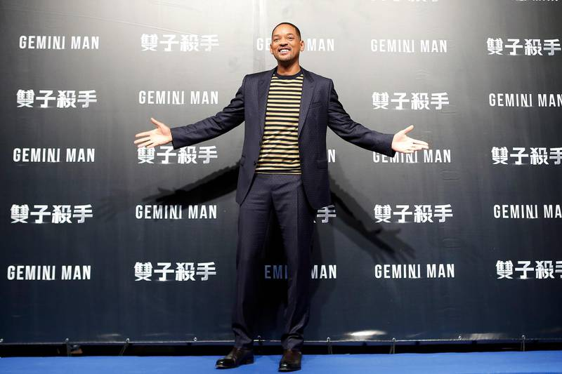 """TAIPEI, TAIWAN - OCTOBER 21: Will Smith attends the Paramount Pictures """"Gemini Man"""" Taipei Premiere at Miramar Da-Zhi Cinema on October 21, 2019 in Taipei, Taiwan. (Photo by Ashley Pon/Getty Images for Paramount Pictures)"""