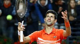 Italian Open: Novak Djokovic concedes luck played a part in victory over Juan Martin del Potro