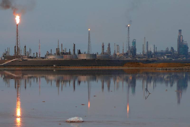 FILE PHOTO: A general view of the Amuay refinery complex which belongs to the Venezuelan state oil company PDVSA in Punto Fijo, Venezuela November 17, 2016. REUTERS/Carlos Garcia Rawlins/File Photo
