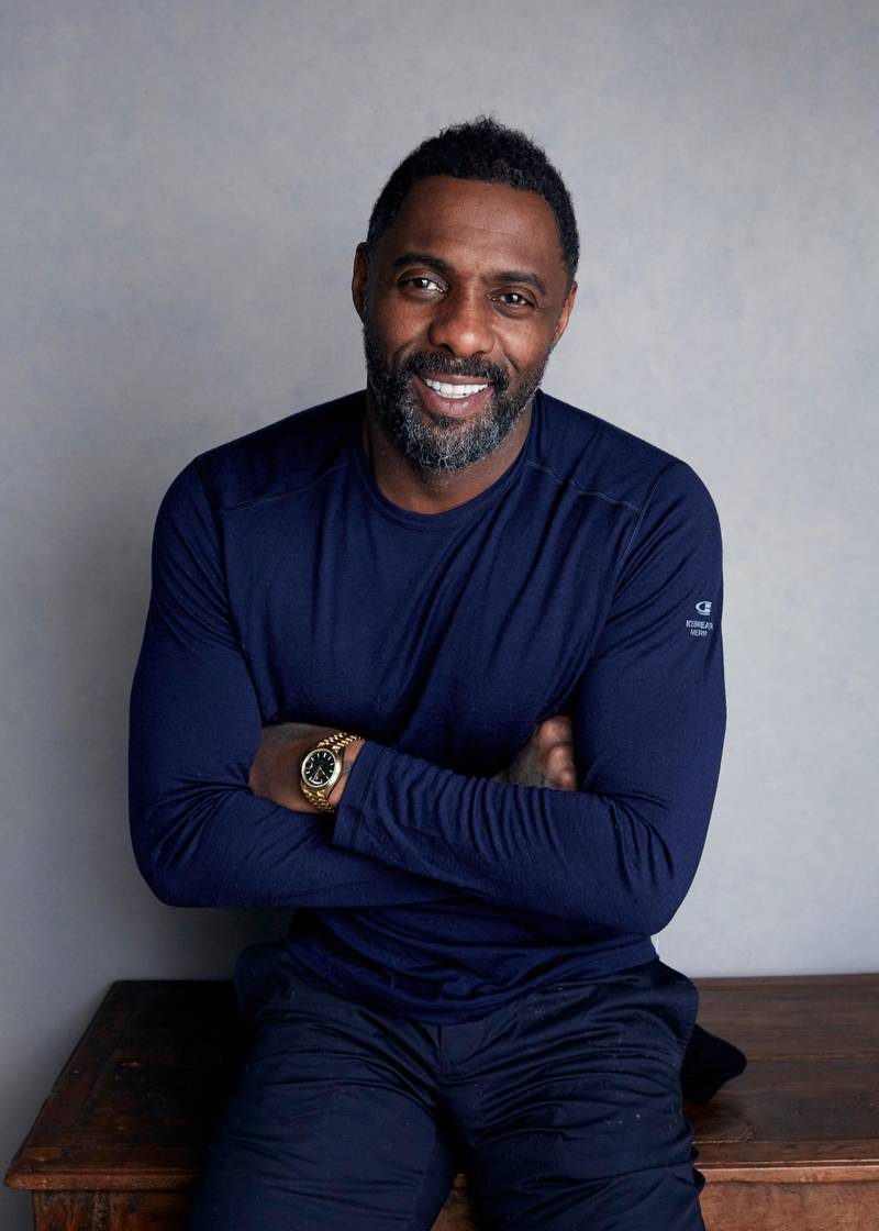 """FILE - In this Jan. 21, 2018, file photo, actor-director Idris Elba poses for a portrait to promote his film """"Yardie"""" at the Music Lodge during the Sundance Film Festival in Park City, Utah. On Monday, Nov. 5, 2018, Elba was named Sexiest Man Alive by People magazine. (Photo by Taylor Jewell/Invision/AP, File)"""