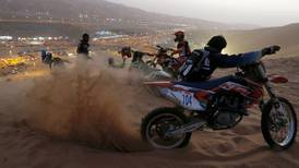 Drag racers take to the dunes at the Liwa Moreeb festival - in pictures