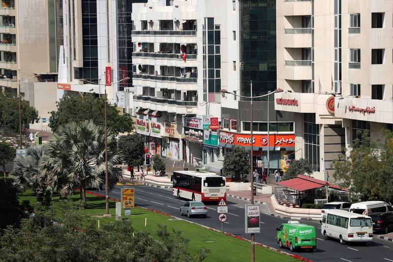 Dubai, United Arab Emirates - Reporter: Patrick Ryan. News. Living in Karama and Deira. The view from Farida Ahmed's apartment in Deira. Sunday, February 14th, 2021. Dubai. Chris Whiteoak / The National