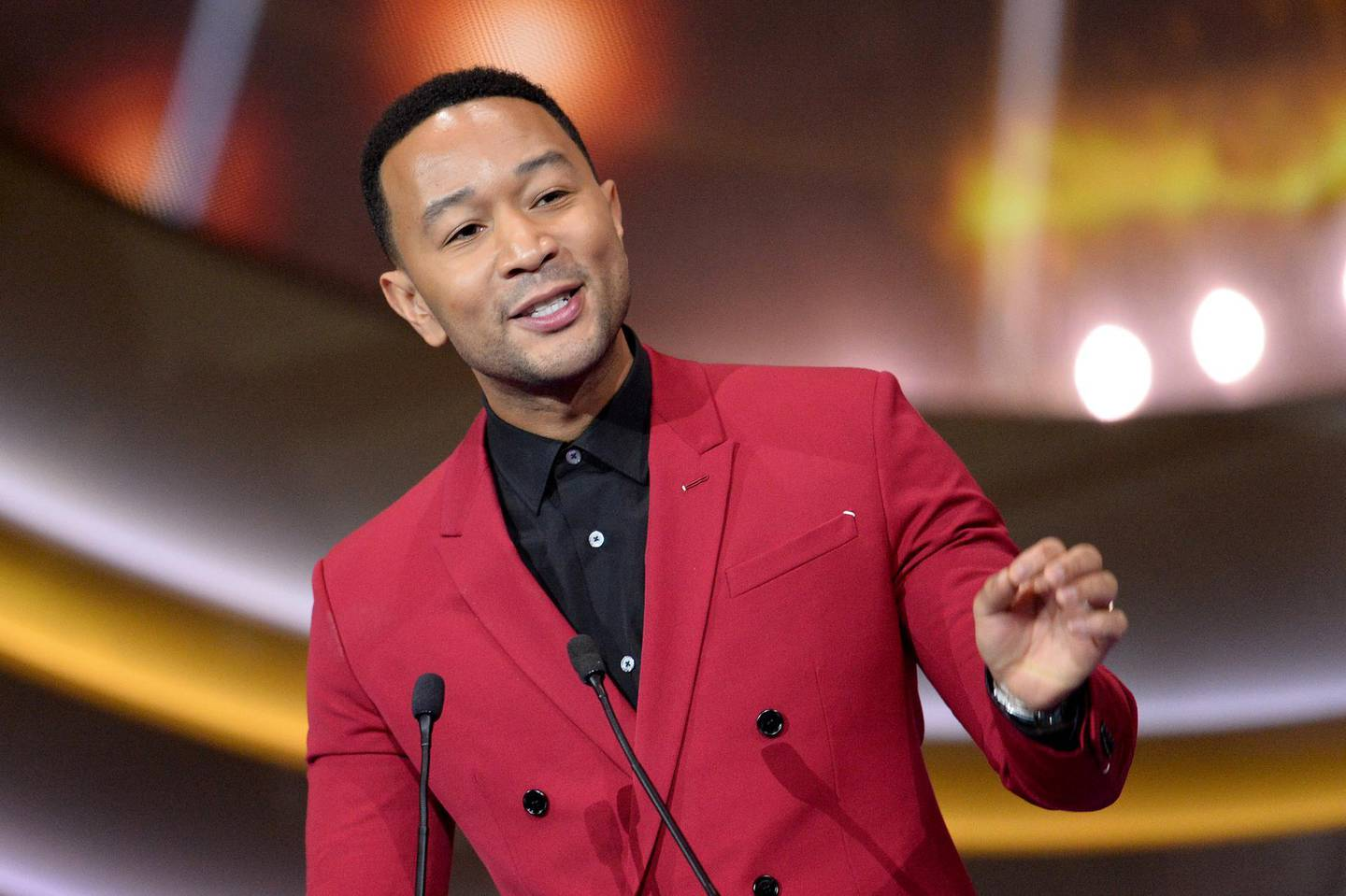 LONDON, ENGLAND - DECEMBER 13: John Legend performs at the 2019 Global Citizen Prize at the Royal Albert Hall on December 13, 2019 in London, England. (Photo by Jeff Spicer/Getty Images for Global Citizen)