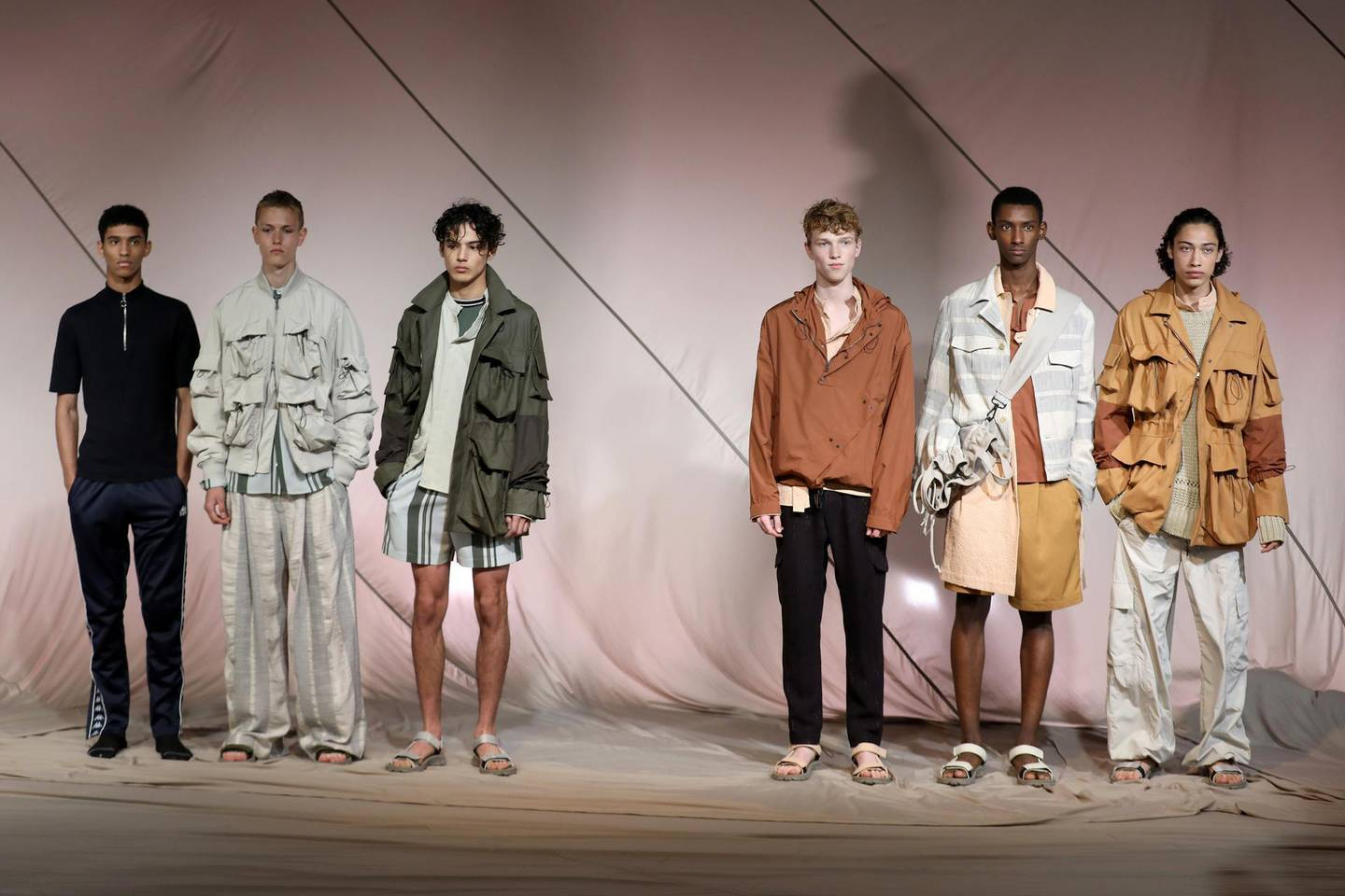 LONDON, ENGLAND - JUNE 10:  Models showcase designs at the QASIMI presentation during the London Fashion Week Men's June 2017 collections on June 10, 2017 in London, England.  (Photo by Tim P. Whitby/Getty Images)