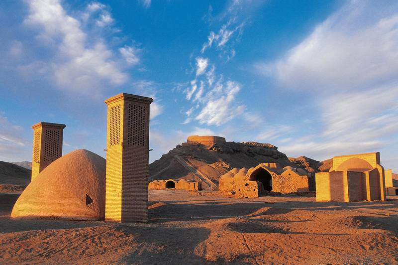 IRAN - APRIL 08: Tower of Silence and Zoroastrian village, near Yazd, Iran. (Photo by DeAgostini/Getty Images)