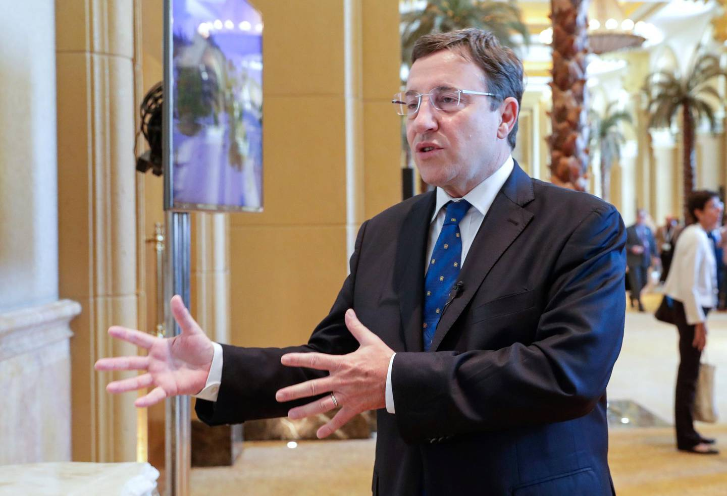 Abu Dhabi, United Arab Emirates, June 30, 2019.   Abu Dhabi Climate Meeting at the Emirates Palace.-- Achim Steiner, Administrateur, Programme des Nation Unies pour le developpement.  Victor Besa/The NationalSection:  NAReporter:  John Dennehy
