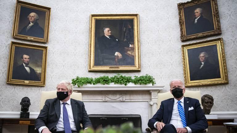 An image that illustrates this article Biden hosts Boris Johnson at White House