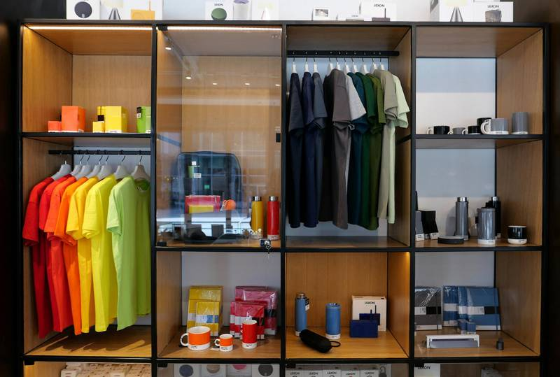 Different items on display at The Name concept store and a resto café at Dubai Design District in Dubai on June 23,2021. Pawan Singh / The National. Story by Janice Rodrigues