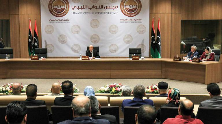 An image that illustrates this article Libya parliament withdraws support for unity government
