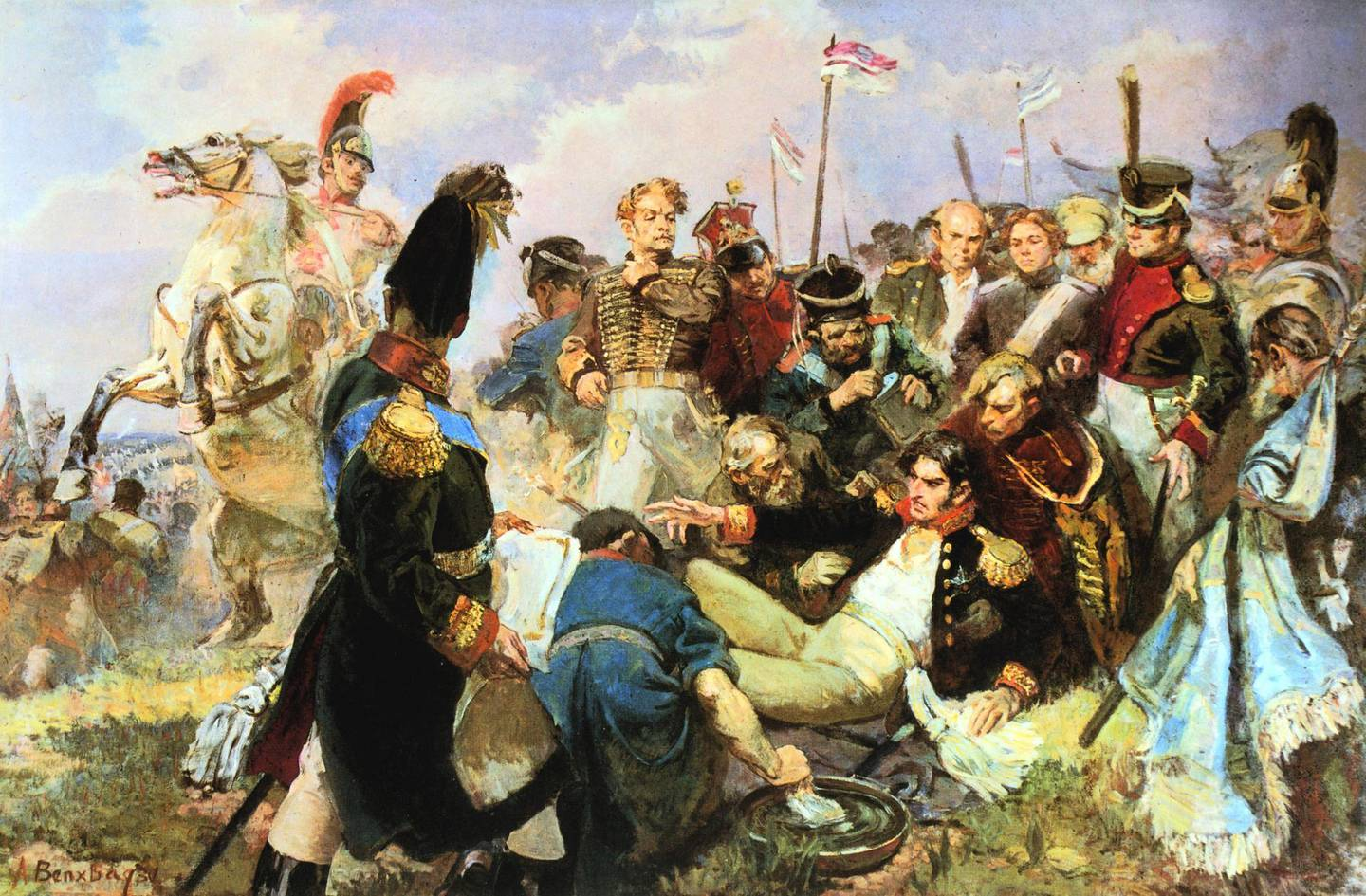 UNSPECIFIED - CIRCA 1754: Battle of Borodino, 7 September 1812, Napoleon's last offensive battle in his Russian campaign and the bloodiest of all the engagements of the Napoleonic Wars. France lost apprxomately 33,000 dead and wounded and Russia 44,000. (Photo by Universal History Archive/Getty Images)