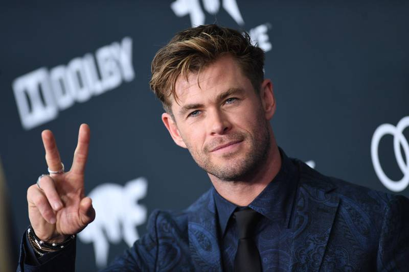 """Australian actor Chris Hemsworth arrives for the World premiere of Marvel Studios' """"Avengers: Endgame"""" at the Los Angeles Convention Center on April 22, 2019 in Los Angeles. / AFP / VALERIE MACON"""