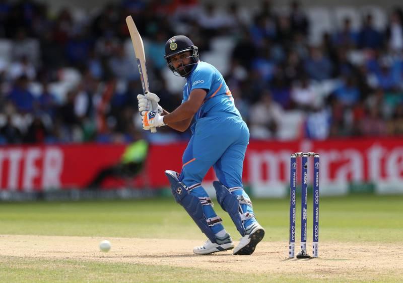 Cricket - ICC Cricket World Cup - Sri Lanka v India - Headingley, Leeds, Britain - July 6, 2019   India's Rohit Sharma in action     Action Images via Reuters/Lee Smith