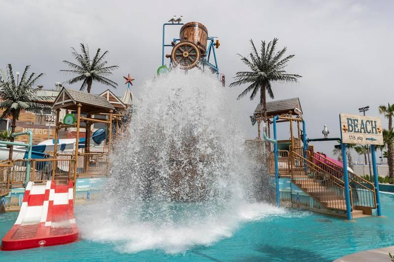 DUBAI, UNITED ARAB EMIRATES. 16 APRIL 2018. Walk through preview of Laguna Waterpark at La Mer by Meraas at Jumeirah beach. (Photo: Antonie Robertson/The National) Journalist: Hala Khalaf. Section: Weekend.