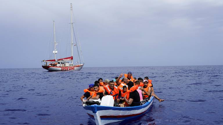 An image that illustrates this article Mediterranean migrant crossings to Italy double in a year