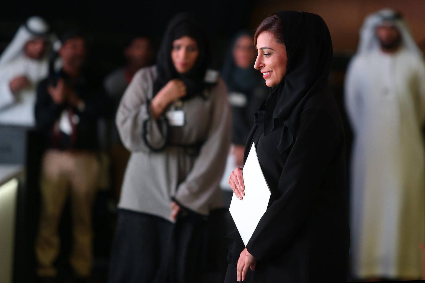 DUBAI, UNITED ARAB EMIRATES - - -  March 1, 2016 --- HE Sheikha Bodour Al Qasimi, Founder and CEO of Kalimat Group, gave one of the keynote speeches on opening day of the Global Educational Supplies & Solutions (GESS) conference in Dubai on Tuesday, March 1, 2016.    ( DELORES JOHNSON / The National ) ID: 44836 Reporter: Nadeem Hanif Section: NA *** Local Caption ***  DJ-010316-NA-Educationa Technology-44836-018.jpg