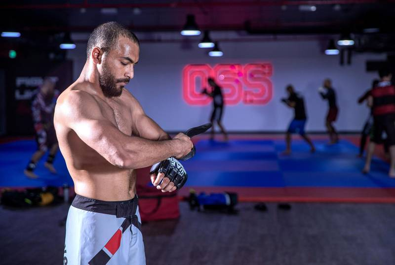Abu Dhabi, United Arab Emirates, June 23, 2020.   SUBJECT NAME/ MATCH/ COMPETITION: Interview with Emirati MMA fighter Yousef Al Housani. Yousef made a winning debut at the Warriors 11 and only the second Emirati to fight professionally.Victor Besa  / The NationalSection:  SPReporter:  Amith Passela