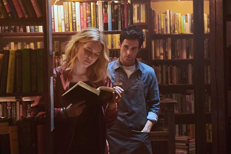 Penn Badgley and Elizabeth Lail in You. Courtesy Netflix