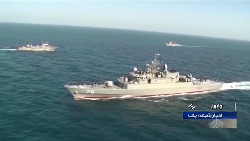 """(FILES) In this file image grab taken on December 27, 2019 from footage obtained from Iranian State TV IRIB, shows a view of the Islamic Republic of Iran Navy frigate """"Jamaran"""" during Iran-Russia-China joint naval drills in the Indian Ocean and the Gulf of Oman. An Iranian warship was accidentally hit by a missile during exercises in the Gulf of Oman, killing at least one, state television said on May 11, 2020, amid tensions with the US in the waterway. The friendly fire incident involving the Konarak vessel occurred on Sunday afternoon near Bandar-e Jask, off the southern coast of the Islamic republic, it said on its website. Tasnim news agency said in an English-language tweet that the Konarak had sunk after being hit by the missile fired by another Iranian warship. """"Konarak was 'sunk by friendly fire' after Moudge-class frigate 'Jamaran' accidentally shot (it) with a missile during live firing exercise in Jask area of #PersianGulf waters on 10th May."""" - RESTRICTED TO EDITORIAL USE - MANDATORY CREDIT - AFP PHOTO / HO / IRIB"""" NO MARKETING NO ADVERTISING CAMPAIGNS - DISTRIBUTED AS A SERVICE TO CLIENTS FROM ALTERNATIVE SOURCES, AFP IS NOT RESPONSIBLE FOR ANY DIGITAL ALTERATIONS TO THE PICTURE'S EDITORIAL CONTENT, DATE AND LOCATION WHICH CANNOT BE INDEPENDENTLY VERIFIED  - NO RESALE - NO ACCESS ISRAEL MEDIA/PERSIAN LANGUAGE TV STATIONS/ OUTSIDE IRAN/ STRICTLY NI ACCESS BBC PERSIAN/ VOA PERSIAN/ MANOTO-1 TV/ IRAN INTERNATIONAL  / AFP / IRIB TV / - / RESTRICTED TO EDITORIAL USE - MANDATORY CREDIT - AFP PHOTO / HO / IRIB"""" NO MARKETING NO ADVERTISING CAMPAIGNS - DISTRIBUTED AS A SERVICE TO CLIENTS FROM ALTERNATIVE SOURCES, AFP IS NOT RESPONSIBLE FOR ANY DIGITAL ALTERATIONS TO THE PICTURE'S EDITORIAL CONTENT, DATE AND LOCATION WHICH CANNOT BE INDEPENDENTLY VERIFIED  - NO RESALE - NO ACCESS ISRAEL MEDIA/PERSIAN LANGUAGE TV STATIONS/ OUTSIDE IRAN/ STRICTLY NI ACCESS BBC PERSIAN/ VOA PERSIAN/ MANOTO-1 TV/ IRAN INTERNATIONAL"""