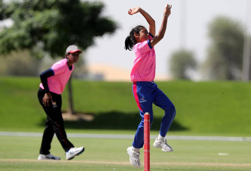Dubai, United Arab Emirates - Reporter: Paul Radley. Sport. Cricket. Girls trials for Rajasthan Royals cricket academy. Wednesday, October 14th, 2020. The Sevens, Dubai. Chris Whiteoak / The National