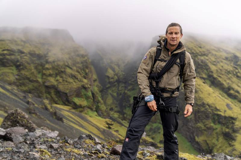 Bear Grylls about to start his journey in Iceland with Terry Crews (not pictured). (National Geographic/Ben Simms)