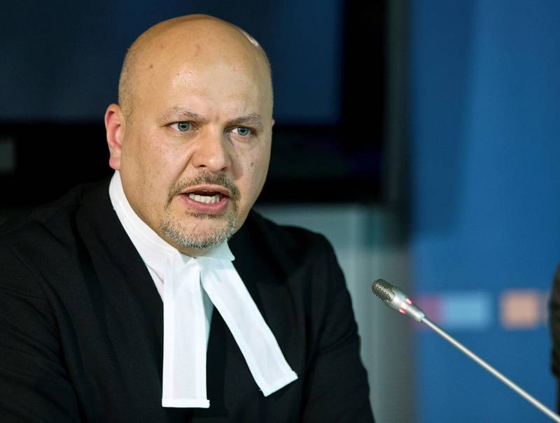 FILE PHOTO: Defence Counsel for Kenya's Deputy President William Ruto, Karim Khan attends a news conference before the trial of Ruto and Joshua arap Sang at the International Criminal Court (ICC) in The Hague September 9, 2013. REUTERS/Michael Kooren (/File Photo