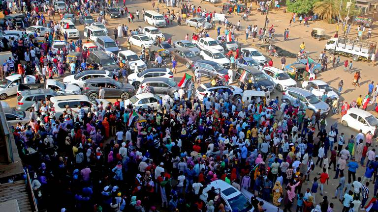 An image that illustrates this article Protests break out in Sudan against prospect of military rule