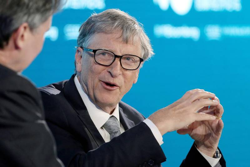 Bill Gates, co-chair of the Bill and Melinda Gates Foundation, speaks during the Bloomberg New Economy Forum in Beijing, China, on Thursday, Nov. 21, 2019. The New Economy Forum, organized by Bloomberg Media Group, a division of Bloomberg LP, aims to bring together leaders from public and private sectors to find solutions to the world's greatest challenges. Photographer: Takaaki Iwabu/Bloomberg
