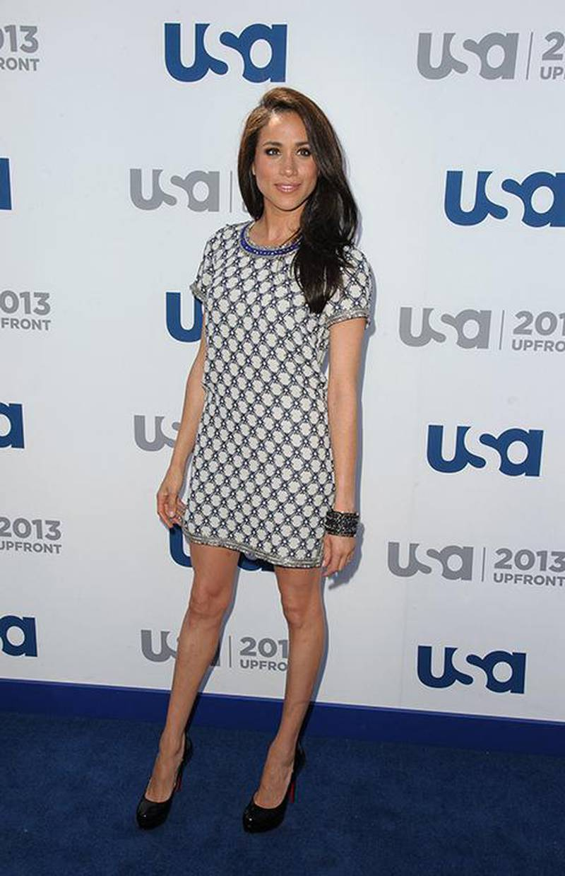 NEW YORK, NY - MAY 16: Meghan Markle attends USA Network 2013 Upfront Event at Pier 36 on May 16, 2013 in New York City.   Dave Kotinsky/Getty Images/AFP (Photo by Dave Kotinsky / GETTY IMAGES NORTH AMERICA / Getty Images via AFP)