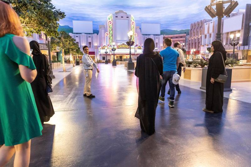 ABU DHABI, UNITED ARAB EMIRATES. 24 JULY 2018. Warner Brother World on Yas Island West. Media tour of the Warner Bros World Abu Dhabi opening. General image of the park interior. (Photo: Antonie Robertson/The National) Journalist: Haneen Dajani. Section: National.