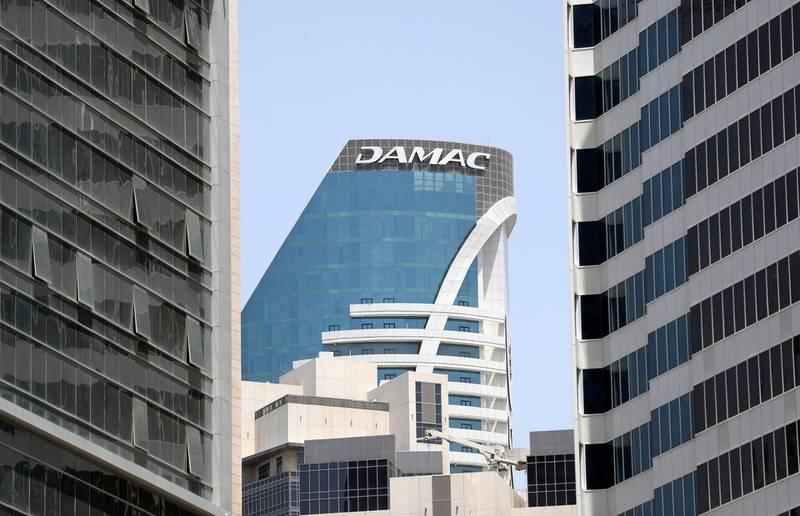 Dubai, United Arab Emirates - April 25, 2019: Damac building with branding. Thursday the 25th of April 2019. Business Bay, Dubai. Chris Whiteoak / The National