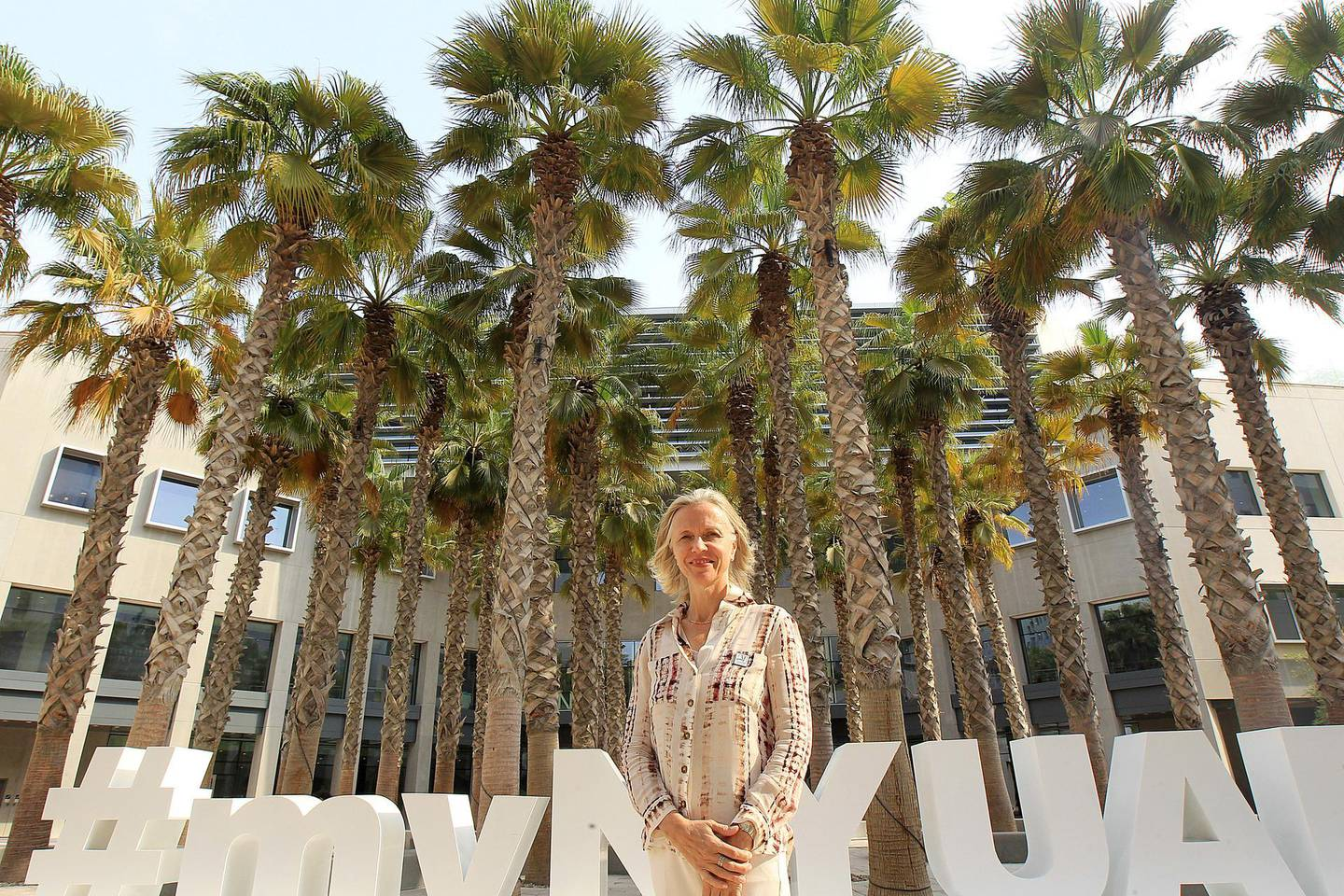 Abu Dhabi, October, 10 2019: Mariet Westermann the new Vice Chancellor of NYU Abu Dhabi pose during the interview in Abu Dhabi. Satish Kumar/ For the National