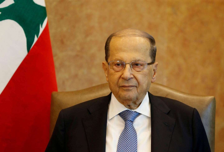 FILE PHOTO: Lebanese President Michel Aoun is seen at the presidential palace in Baabda, Lebanon, November 7, 2017. REUTERS/Mohamed Azakir/File Photo