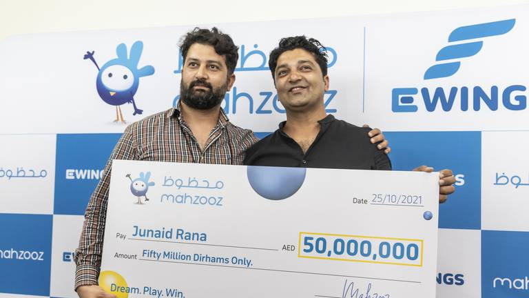 An image that illustrates this article Driver earning Dh6,000 scoops Dh50 million in Mahzooz draw