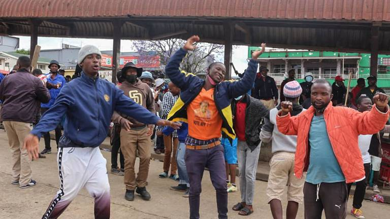 An image that illustrates this article Eswatini protests subside as African mediation begins