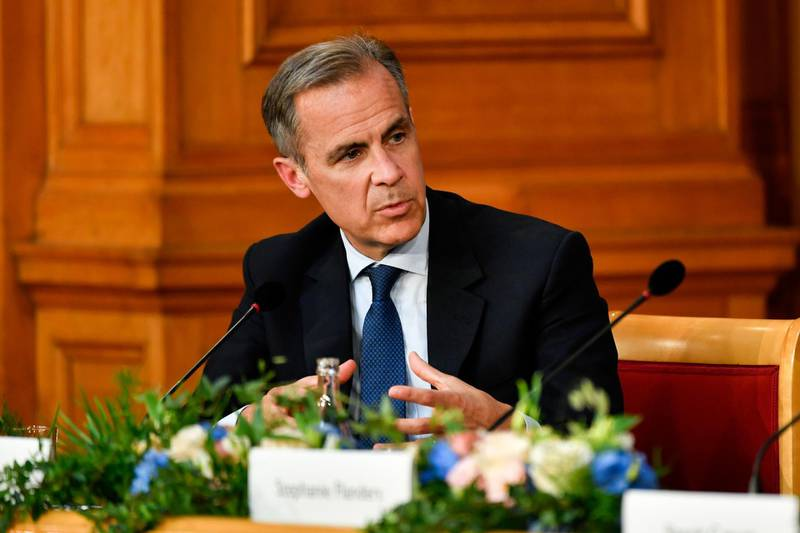 Mark Carney, governor of the Bank of England (BOE), speaks during a conference to celebrate the 350th anniversary of the Riksbankin Stockholm, Sweden, on Friday, May 25, 2018. The central bank has embarked on an historic monetary easing program over the past years to bring back inflation, using a weaker krona to help achieve its goal. Photographer: Mikael Sjoberg/Bloomberg