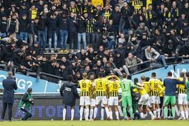 Part of stand at Dutch club collapses as Vitesse Arnhem fans celebrate