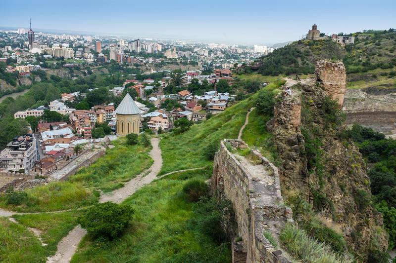 JGWR0X Narikala Fortress, Tbilisi, Georgia, Eastern Europe. Philip Willcocks / Alamy Stock Photo