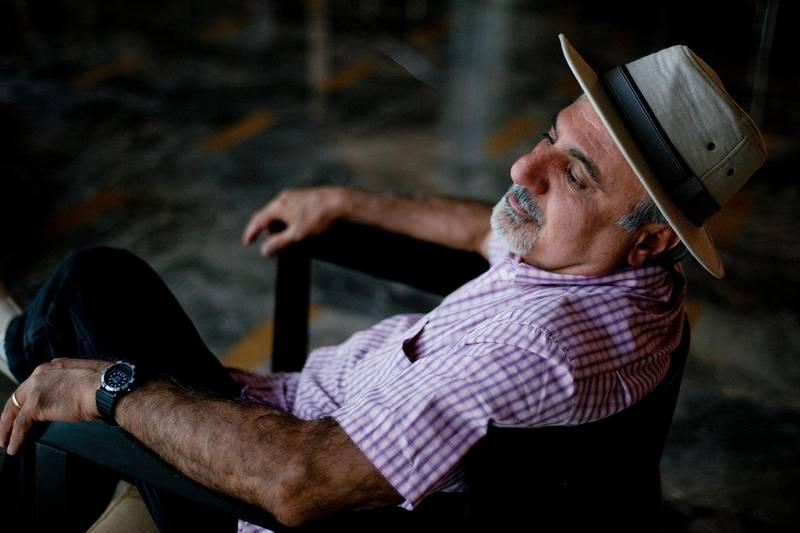 "June 24, 2011 / Abu Dhabi / (Rich-Joseph Facun / The National) Author Samuel Shimon (CQ), who wrote ""An Iraqi in Paris,"" photographed, Friday, June 24, 2011 in Abu Dhabi."