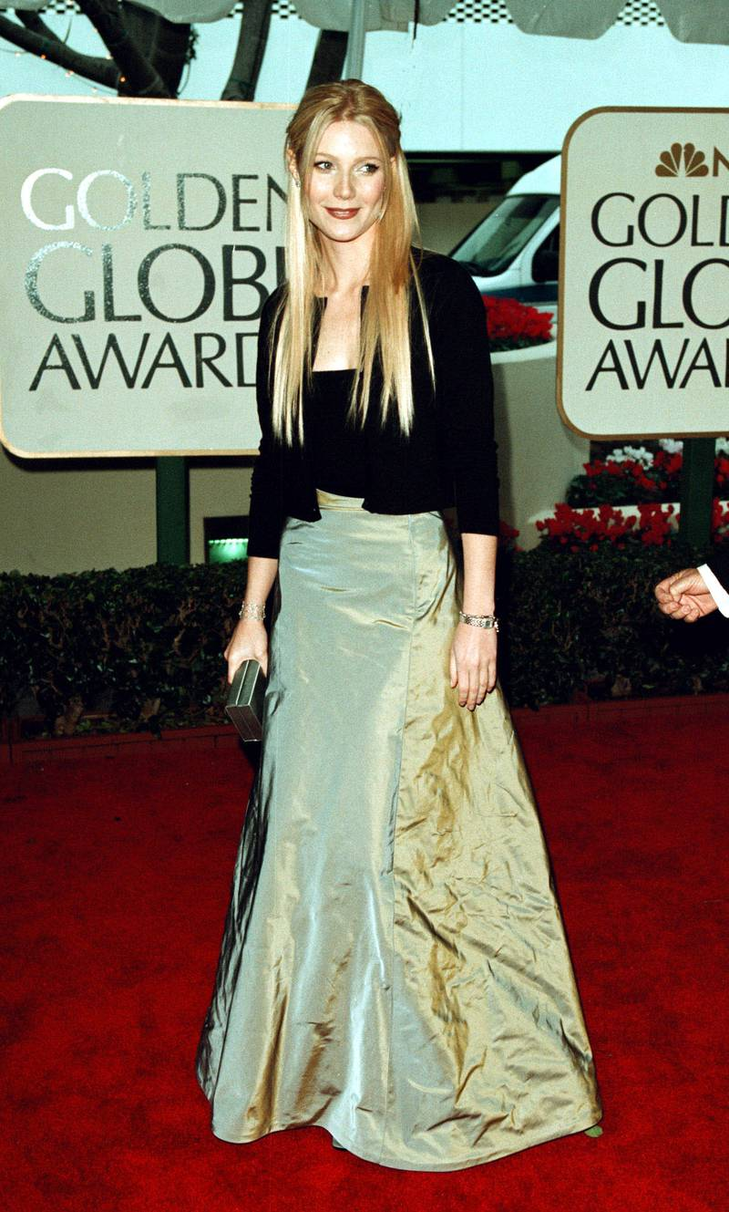 Actress Gwyneth Paltrow arrives for the 56th annual Golden Globe Awards January 24, 1999 in Beverly Hills, CA. (photo by Newsmakers)