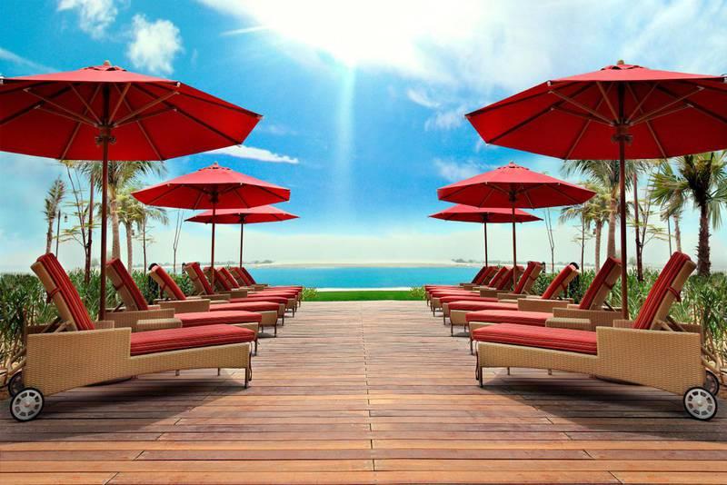 A handout photo of the pool and beach at Khalidiya Palace Rayhaan (Courtesy: Khalidiya Palace Rayhaan) *** Local Caption ***  ob18mr-travel-rayhaan.jpeg