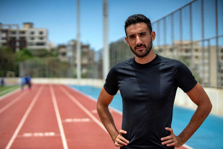 Noureddine Hadid is Lebanon's fastest man, holding the national records in the 60m, 100m,  200m and 400m. (Matt Kynaston)