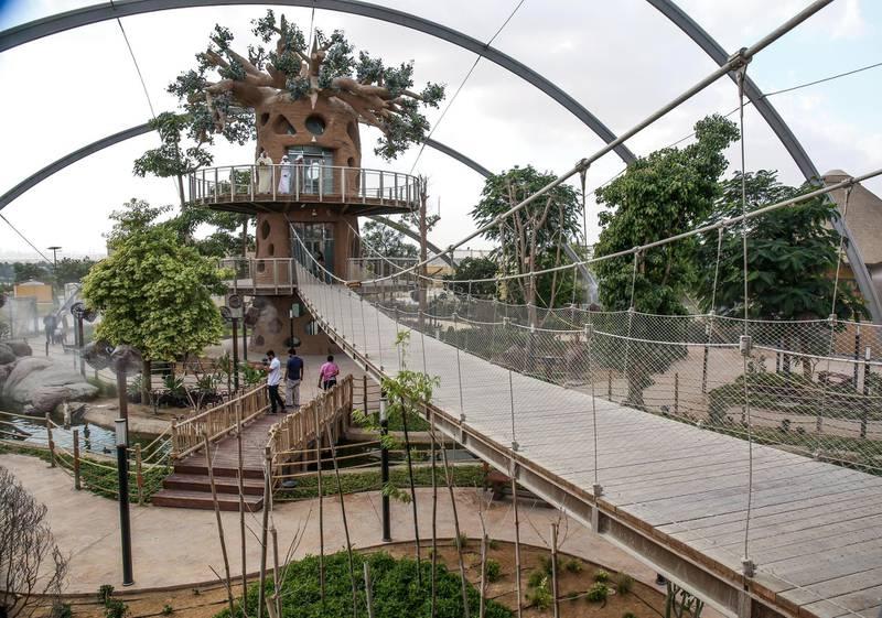 December 12, 2017.   Dubai Safari, Al Awir Road.  Media tour of the Dubai Safari.  Zoo aviary. Victor Besa for The NationalNationalReporter:  Nick Webster