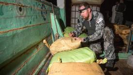 VIDEO: Anti-drug patrols smash hashish and heroin smugglers in the Arabian Sea amid record narcotics hauls