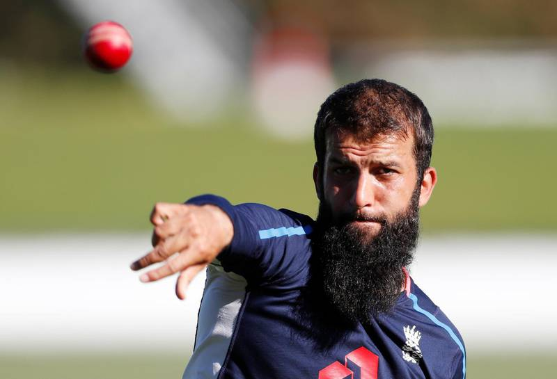 Cricket - England Nets - Hagley Oval, Christchurch, New Zealand - March 28, 2018   England's Moeen Ali during nets   REUTERS/Paul Childs