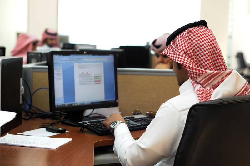 10/2/2010 -- Riyadh, Saudi Arabia -- Employees work at the Center of Excellence for Wireless Applications (CEWA), a telecoms R&D facility that was founded in partnership with the King Abdulaziz City for Science and Technology (KACST) and Intel, the microchip giant. Waseem Obaidi for The National