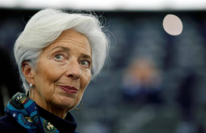 FILE PHOTO: European Central Bank President Christine Lagarde looks on during a debate on the 2018 annual report of the ECB, at the European Parliament in Strasbourg, France, February 11, 2020. REUTERS/Vincent Kessler/File Photo/File Photo
