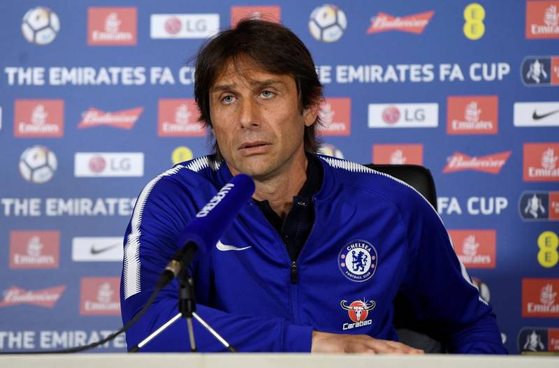 Soccer Football - Chelsea - Antonio Conte FA Cup Final Press Conference - Cobham Training Centre, Cobham, Britain - May 18, 2018   Chelsea manager Antonio Conte during the press conference   Action Images via Reuters/Tony O'Brien