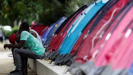 Aid groups in France stage migrant campsite event to highlight plight