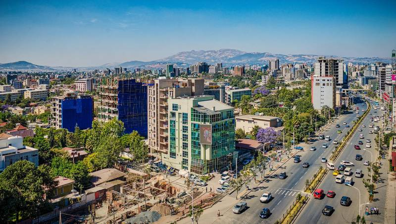 Panoramic view of the airport road area in Addis Ababa where most of the foreign embassies and consulates are located, Ethiopia. Getty Images