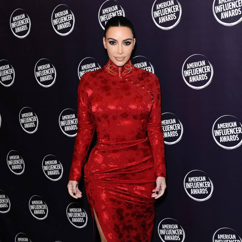 HOLLYWOOD, CALIFORNIA - NOVEMBER 18: (EDITORS NOTE: Retransmission with alternate crop.) Kim Kardashian attends the 2nd Annual American Influencer Awards at Dolby Theatre on November 18, 2019 in Hollywood, California.   Presley Ann/Getty Images for American Influencer Awards /AFP (Photo by Presley Ann / GETTY IMAGES NORTH AMERICA / Getty Images via AFP)
